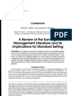 Review Earnings Management