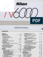 Nikon N6000 Instruction Manual
