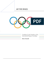 IOC presidency, election manifesto, Denis Oswald (Switzerland)