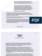 IOC presidency, election manifesto, Ching-Kuo Wu (Taiwan)