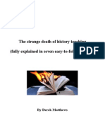 The Strange Death of History Teaching