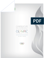 IOC presidency, election manifesto, Richard Carrión (Puerto Rico)