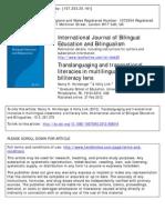 Hornberger 2012 Translanguaging
