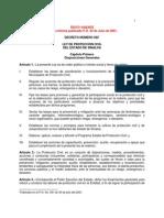 Ley Estatal de Proteccion Civil de Sinaloa