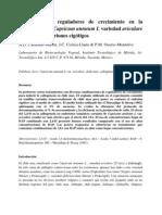 Efecto de los reguladores de crecimiento en el crecimiento en la callogénesis a partir de embriones cigótigos de Capsicum annuum L variedad aviculare