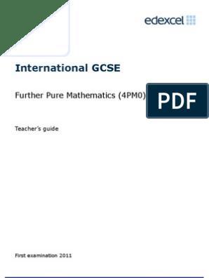 IGCSE in Further Pure Mathematics TSM | Trigonometric Functions
