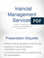 Financial Management Service Implementation 09.01.11