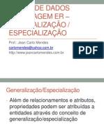 Banco de Dados Generalizacao e Especializacao