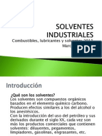 Solventes Industriales- 2013