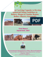 Carrying Capacity of Mines in Bellary District EMPRI 2007 09 (2)