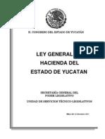 Ley Gral Hacienda Yucatan