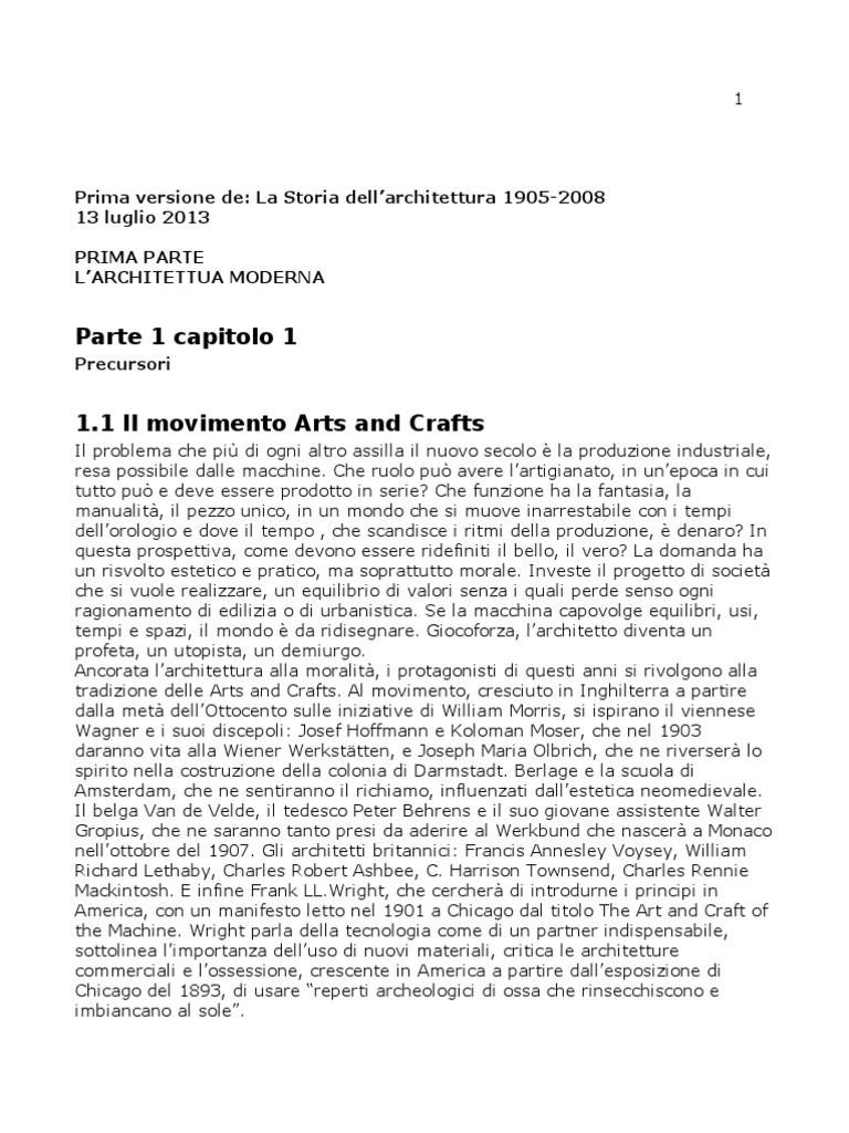 b167fa7ba6 Storia Dell'Architettura 1905 - 2008
