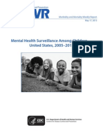 mental health surveillance among children - 2005-2011
