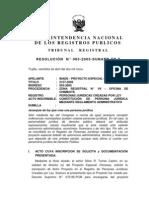 Primer Precedente Res. 065 2005 SUNARP TR T