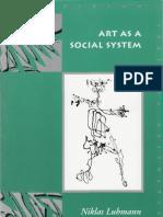 Luhmann Niklas Art as Social System
