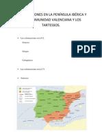 COLONIZACIONES EN LA PENÍNSULA IBÉRICA Y EN LA COMUNIDAD VALENCIANA Y LOS TARTESSOS