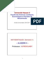 Algébre 2 (Partie 1)