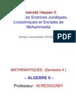 Algébre 2 (Partie 2)