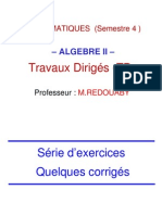 Algébre TD (Partie 2)
