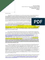 Official Letter to Mrs Viviane Reding, EC