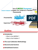 Local Calibration of MEPDG Permanent Deformation Models for Ontario's Flexible Pavements