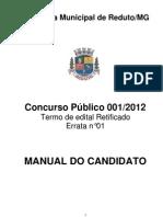 5 - PREFEITURA MUNICIPAL DE REDUTO - MG CONCURSO PÚBLICO N.º 001.2012.pdf