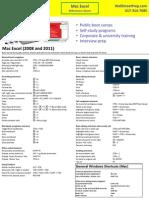 Excel Mac Shortcuts
