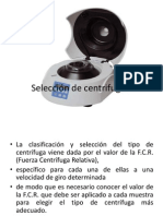 Selección de centrifugas