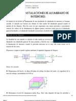 Cálculo de instalaciones de alumbrado de interiores. Manual de luminotecnia