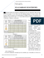 Ejercicios de Alumbrado de Interiores. Manual de Luminotecnia