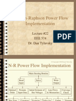 Newton-Raphson Power Flow Implementation