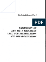 Tech Report #3 Validation of Dry Heat Processes Used for Sterilization and Depyrogenation