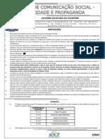 (PRV) Governo do Tocantins - 2012 - AOCP - Analista de Comunicação Social - Publicidade e Propaganda