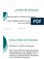 Slides Relatório de pesquisa