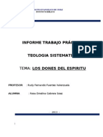 INFORME  TEOLOGIA SISTEMATICA
