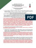 1a Lista de Exercicio ENP015 Gabarito