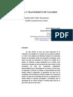 FAMILIA Y TRANSMISIÓN DE VALORES