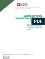 Le attività del settore Proprietà forestali regionali e vivaistiche