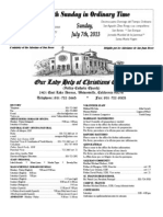 Parish Bulletin for July 7, 2013