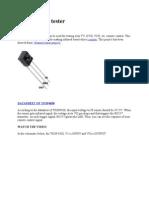 Basic Remote Tester