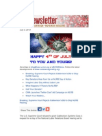 CWA Newsletter, Wednesday, July 3, 2013 - Happy 4th of July!