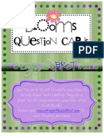 Blooms Question Cards Freebie Booms Taxonomy