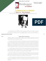 Heidegger en Castellano - De La Esencia de La Verdad
