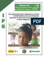 Situación de Derechos Humanos de niños y niñas indígenas en Colombia