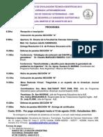 Programa Jornada Cyt 2013