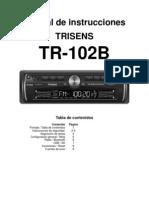 TRISENS TR 102B Manual de Instrucciones Espanol