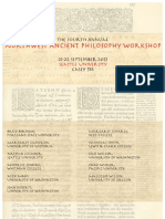 2013 Northwest Ancient Philosophy Workshop