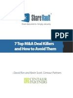 7 Top M&a Deal Killers