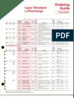 Sylvania Metalarc Lamp Ordering Guide 1984