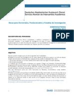 DAAD Convocatoria Doctorado 2013